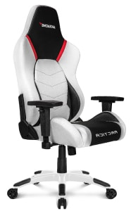 The reviewed Arctica in white/black colours at an angle.