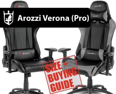 Sensational Arozzi Verona Series Size Buying Guide On Goturback Uk Short Links Chair Design For Home Short Linksinfo