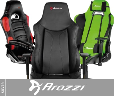 Comfortable leather gaming racing chairs from Arozzi