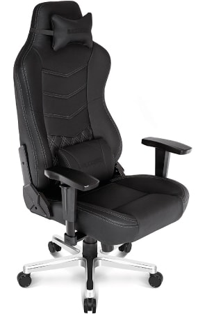 Best AKRacing model with real leather covering at an angle