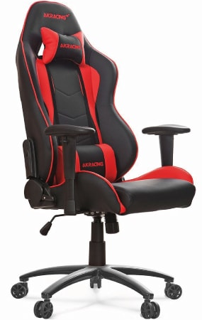 Best-selling AKRacing Series in the UK in red and black