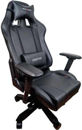 Black XL DXRacer seat for taller and heavier gamers in black design