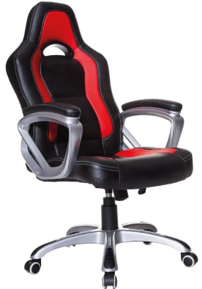 A cheap Cherry Tree Furniture Racing Sport Swivel Office chair in red