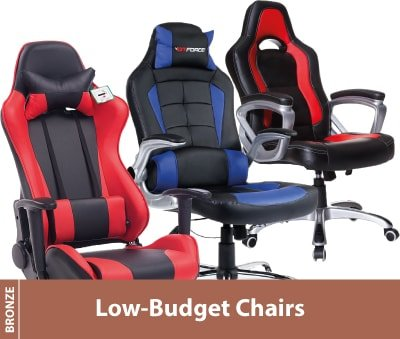Cheap video game chair for kids and adults in red and blue