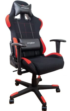 DXRacer chair for smaller gamers in red and black colours