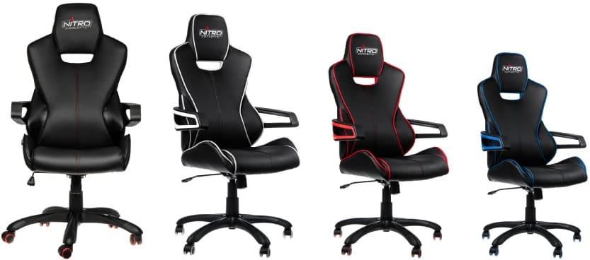Colour variants of the E200 chair.