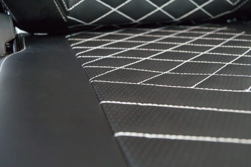 Noble diamond pattern on seat
