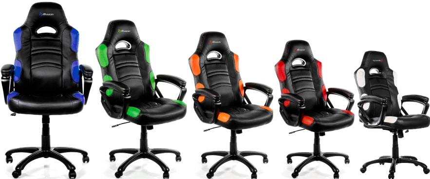 Colour variants of the Enzo chair.