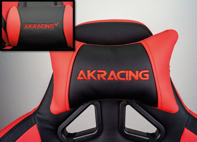 ergonomic lumbar and neck support of the tested player chair