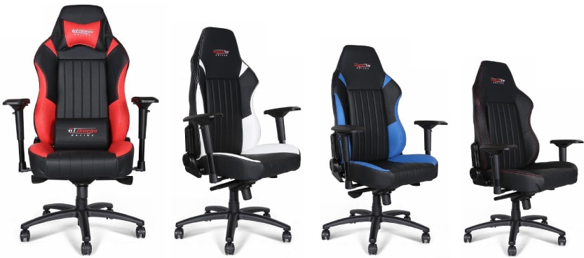 Colour variants of the EVO XL chair.