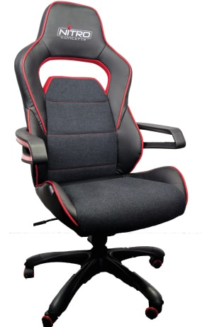 fabric and pu leather nitro concepts racing seat
