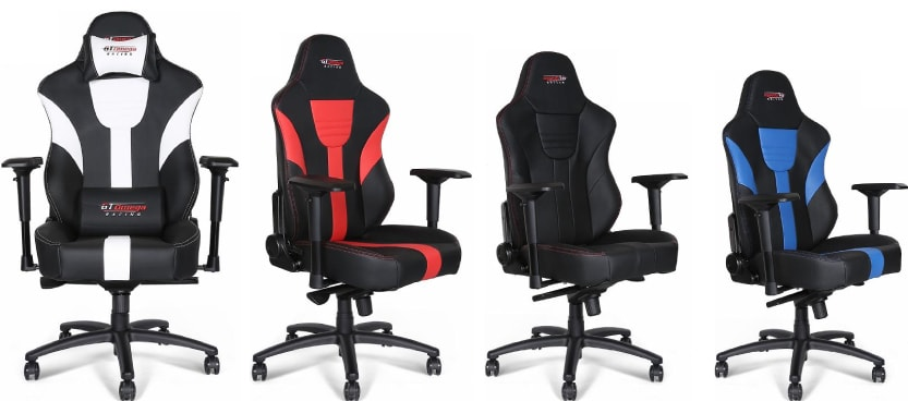 Colour variants of the MASTER XL chair.