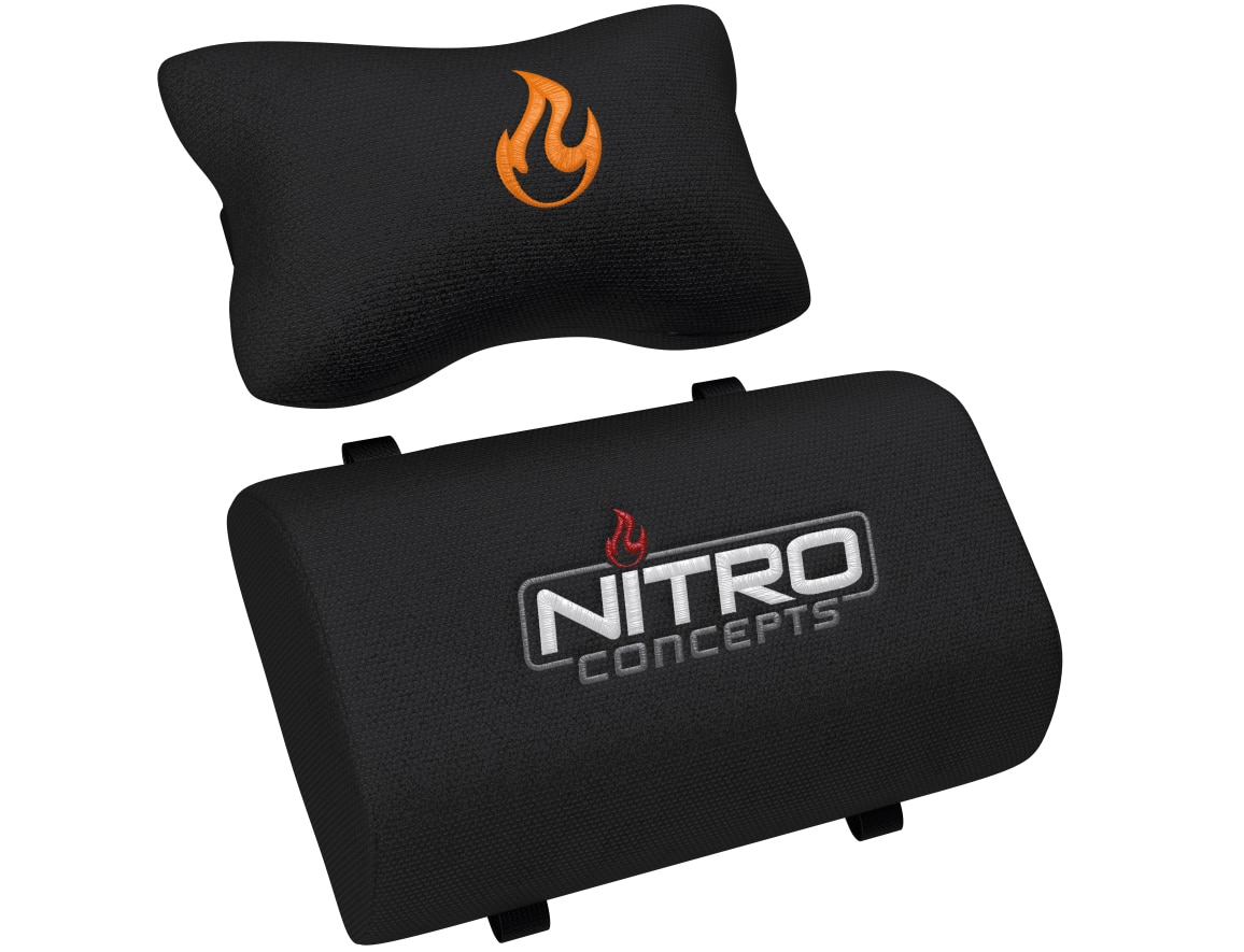 Neck and lumbar pillows with logo