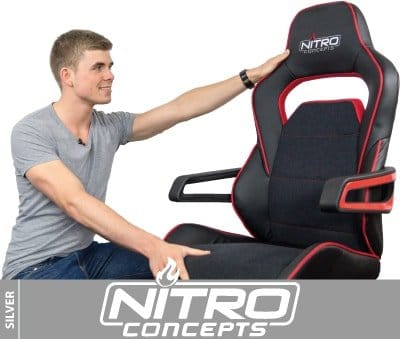 Ergonomic gaming armchair for large adults under 100 from Nitro Concepts