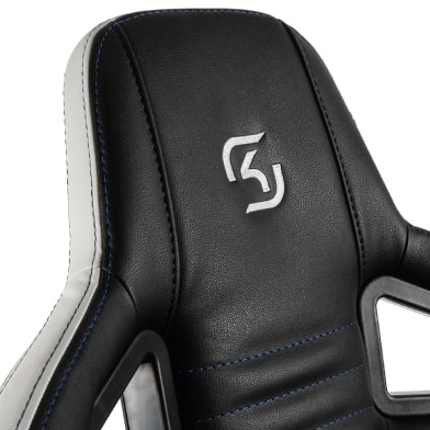 Headrest of the noblechairs SK Gaming Edition chair.