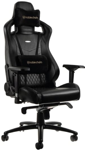 noblechairs real leather chair in black colours