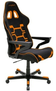 The reviewed Origin in black/orange colours at an angle.