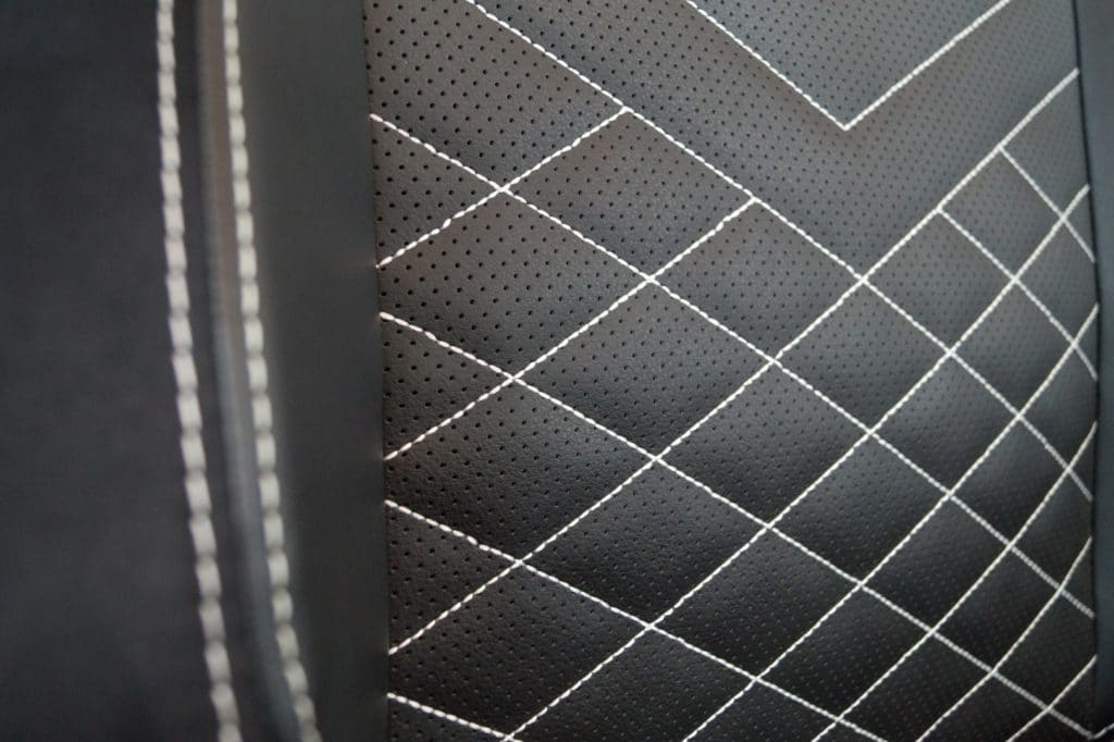 Perforated faux leather