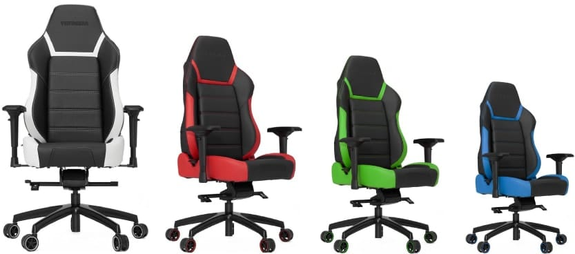 Colour variants of the PL6000 chair.