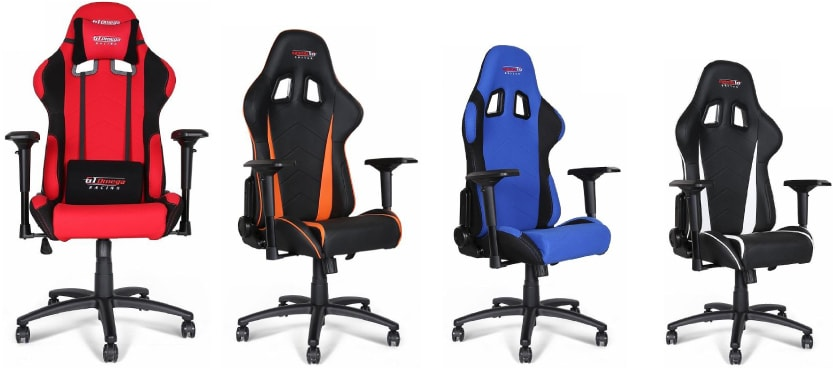Colour variants of the Pro chair.