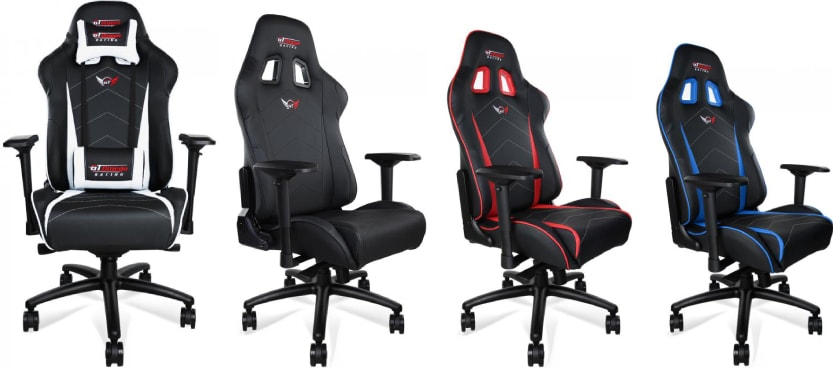 Colour variants of the PRO XL chair.