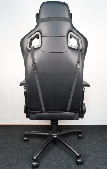 The PU-leather seat from behind