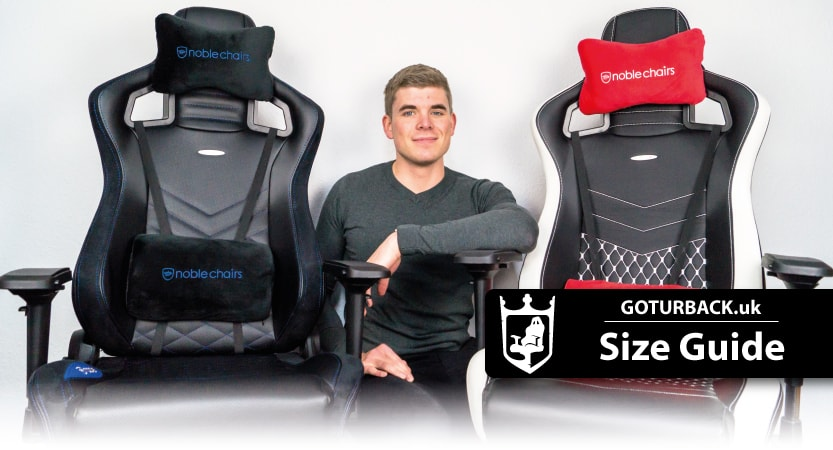 Size Guide: Small and large comfy computer seats for sale.