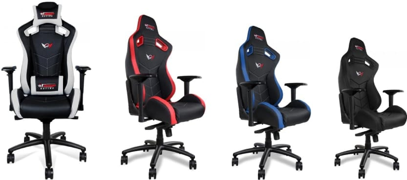 Colour variants of the Sport chair.