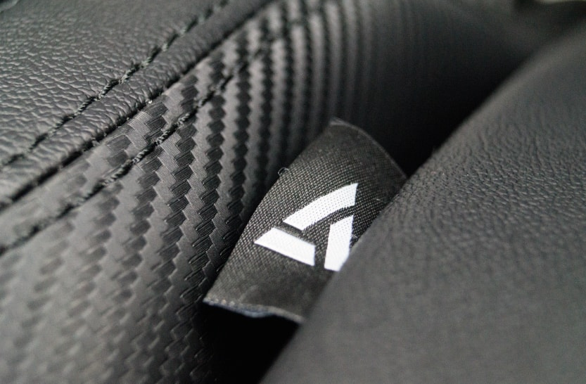Testing the PVC cover and a closer look at the vertagear logo patch.