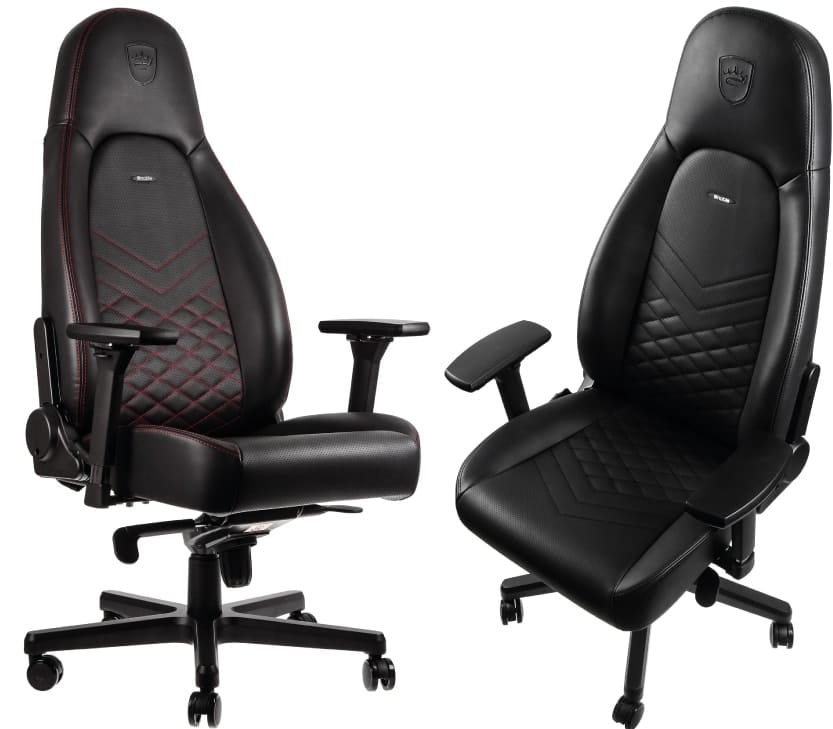The ICON gaming chair in two different colours