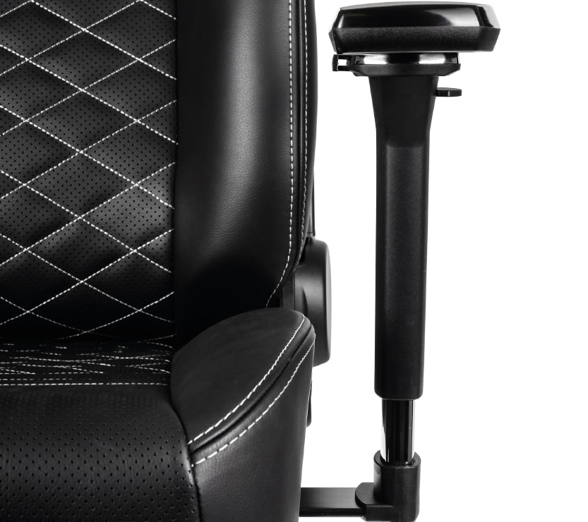 The new armrest of the ICON gaming seat