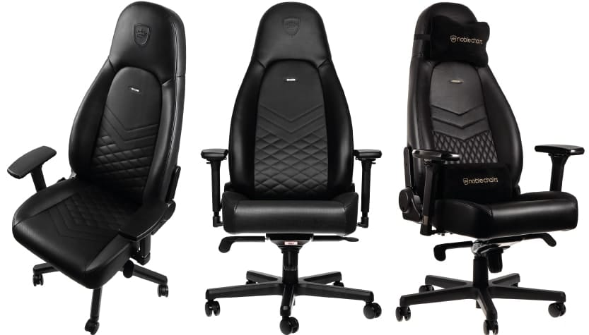 The new noblechairs series for larger, taller gamers from 3 perspectives.