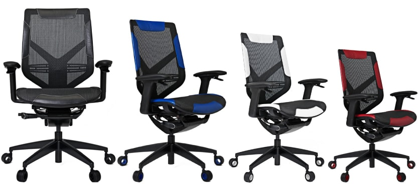 Colour variants of the Triigger 275 chair.