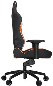 The reviewed PL6000 in black and orange colours from the side