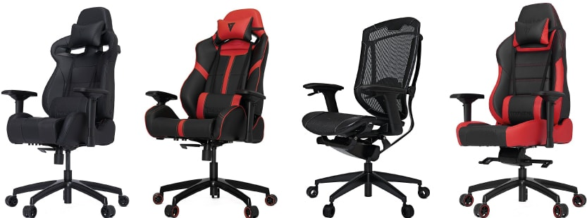 Vertagear S-Line, P-Line and Gaming Series in different colours.