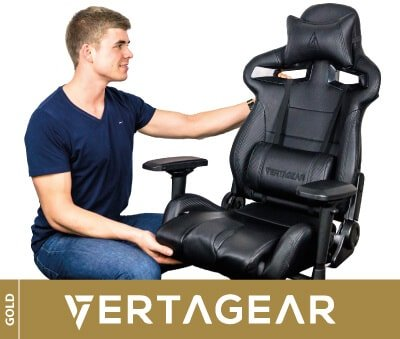 Comfy game seat for PC from Vertagear