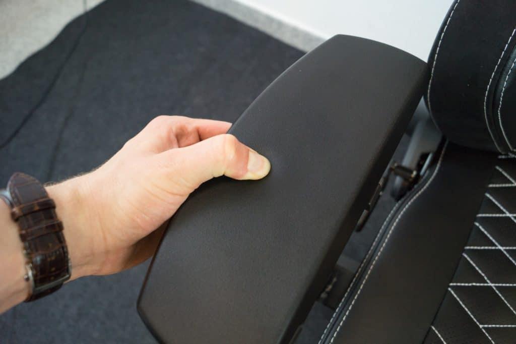 Soft plastic on armrests